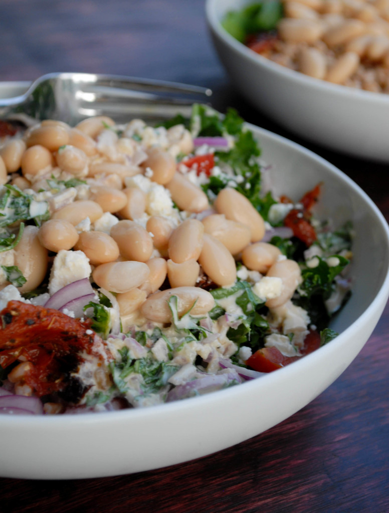kale white bean and farro salad 2- from scratch stat