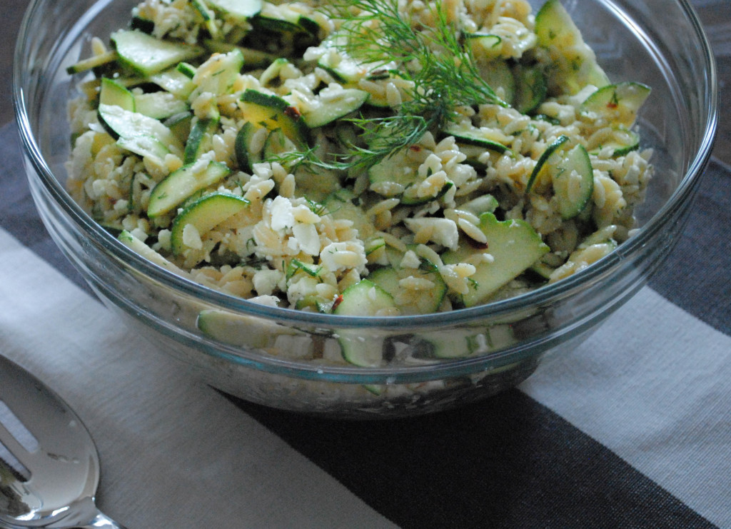 marinated zucchini orzo salad-from scratch stat