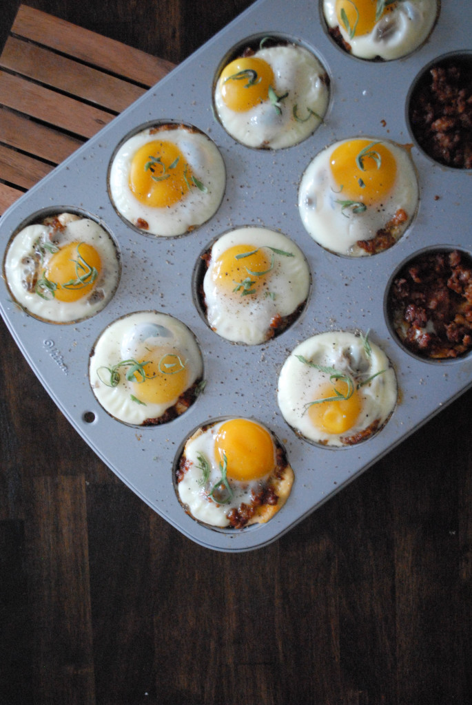 BAKED EGG CUPS WITH LEFTOVER THANKSGIVING STUFFING AND SAGE- FROM SCRATCH STAT