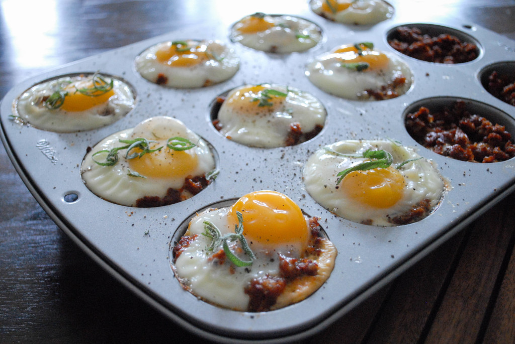 BAKED EGG CUPS WITH LEFTOVER THANKSGIVING STUFFING AND SAGE from scratch stat (2)