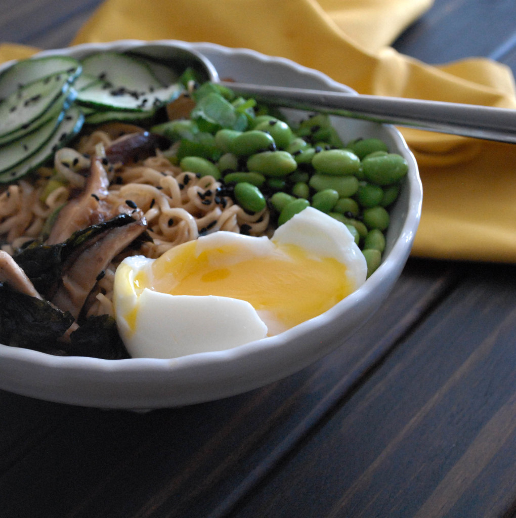 Quick Meatless Ramen Noodle Soup For Two