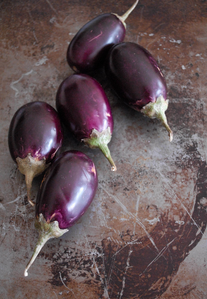 Goat Cheese and Sun-Dried Tomato Stuffed Baby Eggplants